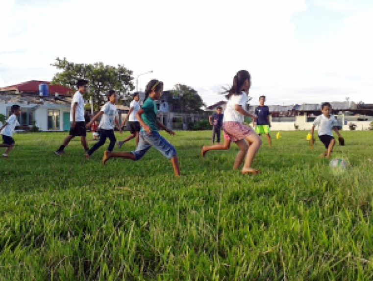 Playing in fields