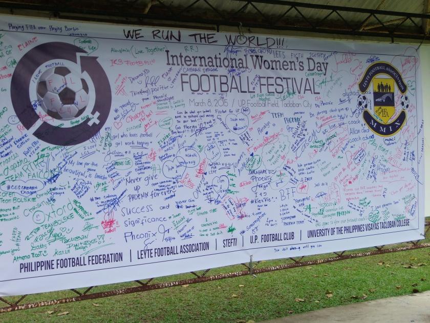 Freedom wall celebrating womanhood.
