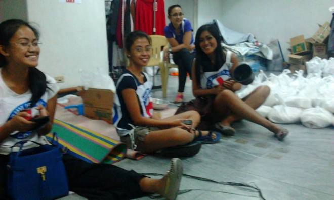 Repacking at Red Cross Boni