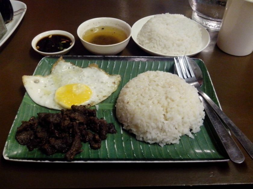 My usual order of tapsilog from Rafael's