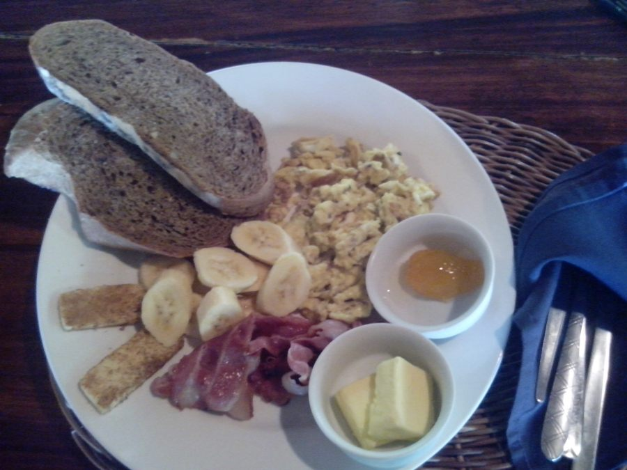 My favorite part of this breakfast meal was the homemade bread!