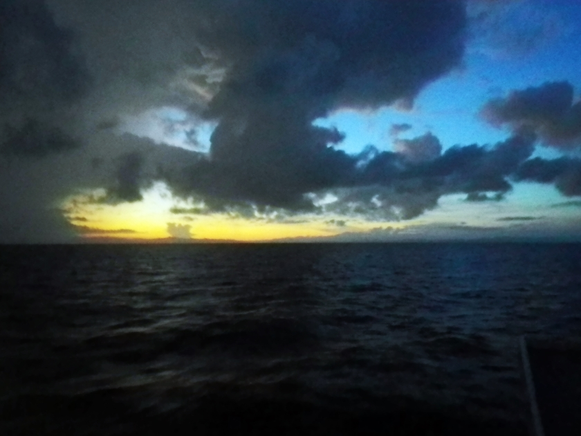 Sun rise from Monad Shoal.