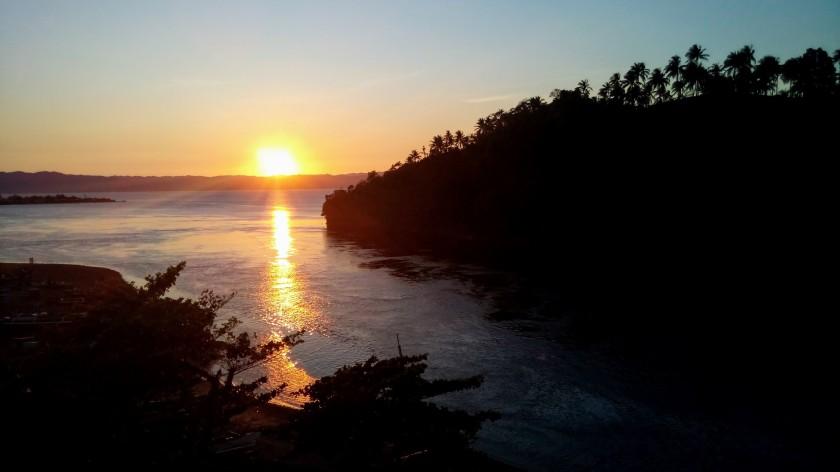 Sunset over Liloan Bridge
